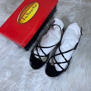 Talbots Black Patent Leather Strappy Sandal Size 9